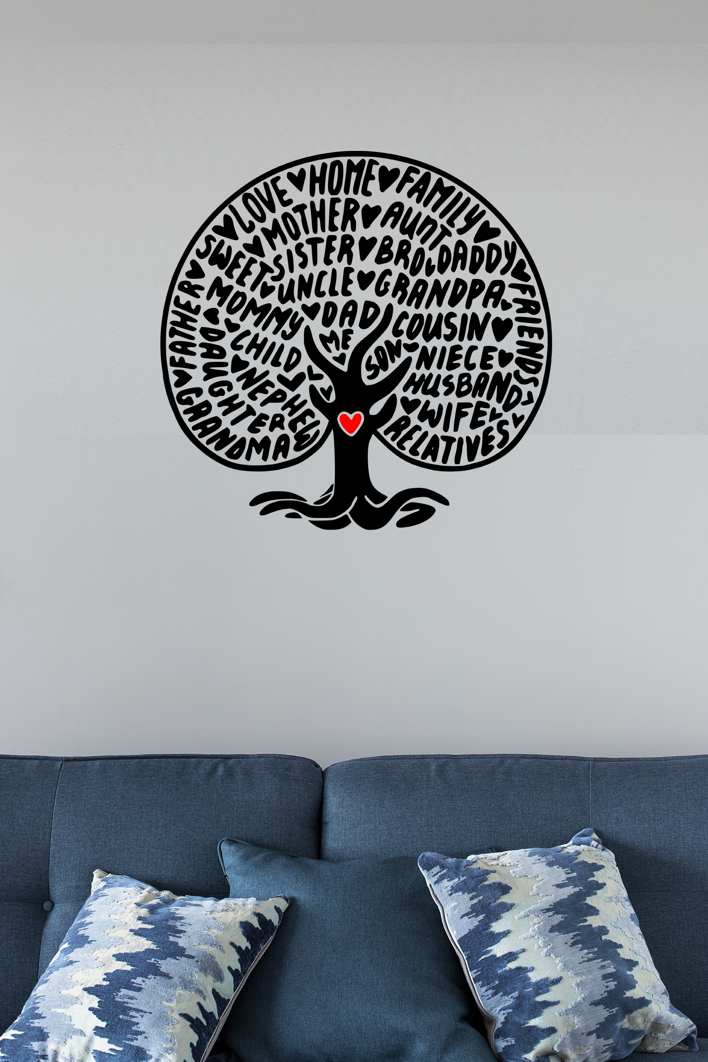 Wall Decals – Single Colour